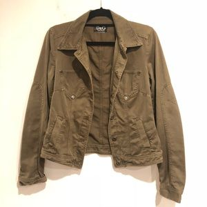 Army green D&G Dolce and Gabbana jacket